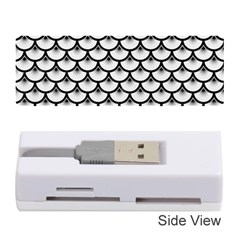 Scales3 Black Marble & White Linen Memory Card Reader (stick)
