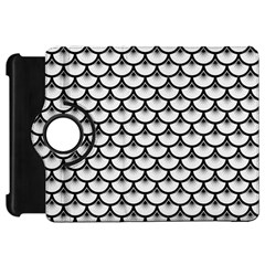 Scales3 Black Marble & White Linen Kindle Fire Hd 7
