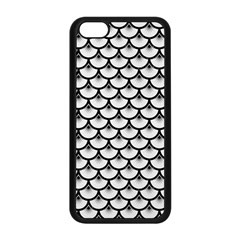 Scales3 Black Marble & White Linen Apple Iphone 5c Seamless Case (black)