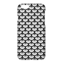 Scales3 Black Marble & White Linen Apple Iphone 6 Plus/6s Plus Hardshell Case