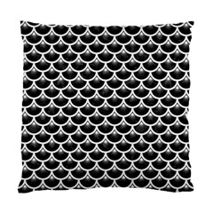 Scales3 Black Marble & White Linen (r) Standard Cushion Case (one Side)