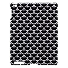 Scales3 Black Marble & White Linen (r) Apple Ipad 3/4 Hardshell Case