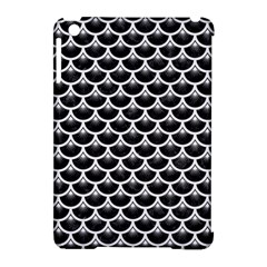 Scales3 Black Marble & White Linen (r) Apple Ipad Mini Hardshell Case (compatible With Smart Cover)