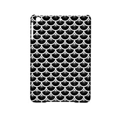 Scales3 Black Marble & White Linen (r) Ipad Mini 2 Hardshell Cases