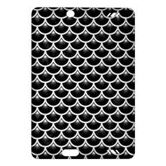 Scales3 Black Marble & White Linen (r) Amazon Kindle Fire Hd (2013) Hardshell Case