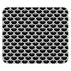 Scales3 Black Marble & White Linen (r) Double Sided Flano Blanket (small)