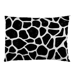 Skin1 Black Marble & White Linen Pillow Case (two Sides)
