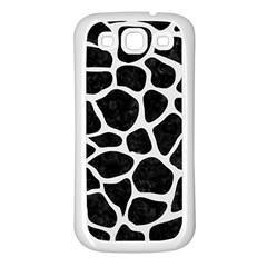 Skin1 Black Marble & White Linen Samsung Galaxy S3 Back Case (white)