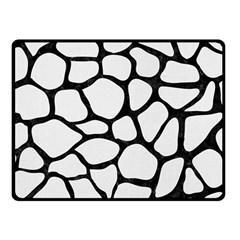 Skin1 Black Marble & White Linen (r) Fleece Blanket (small)