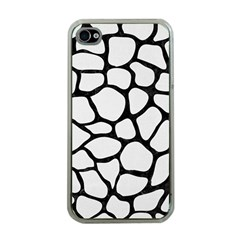 Skin1 Black Marble & White Linen (r) Apple Iphone 4 Case (clear)