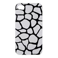 Skin1 Black Marble & White Linen (r) Apple Iphone 4/4s Premium Hardshell Case
