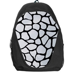 Skin1 Black Marble & White Linen (r) Backpack Bag