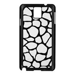 Skin1 Black Marble & White Linen (r) Samsung Galaxy Note 3 N9005 Case (black)