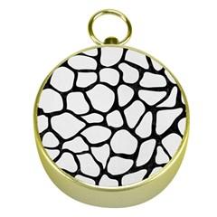Skin1 Black Marble & White Linen (r) Gold Compasses