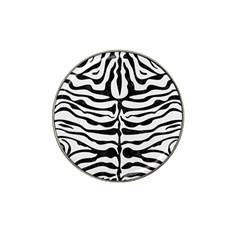 Skin2 Black Marble & White Linen Hat Clip Ball Marker
