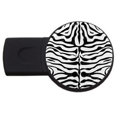 Skin2 Black Marble & White Linen Usb Flash Drive Round (4 Gb)