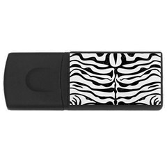 Skin2 Black Marble & White Linen Rectangular Usb Flash Drive