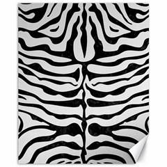 Skin2 Black Marble & White Linen Canvas 11  X 14