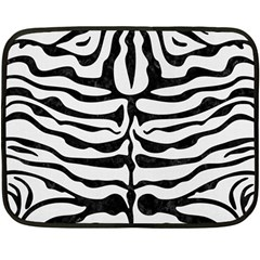 Skin2 Black Marble & White Linen Double Sided Fleece Blanket (mini)