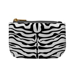 Skin2 Black Marble & White Linen Mini Coin Purses