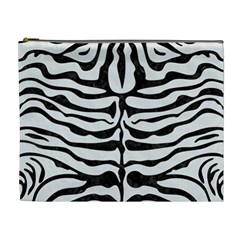 Skin2 Black Marble & White Linen Cosmetic Bag (xl)