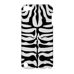 Skin2 Black Marble & White Linen Apple Ipod Touch 5 Hardshell Case
