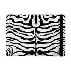 Skin2 Black Marble & White Linen Apple Ipad Mini Flip Case