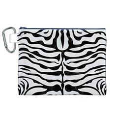 Skin2 Black Marble & White Linen Canvas Cosmetic Bag (xl)