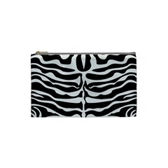 Skin2 Black Marble & White Linen (r) Cosmetic Bag (small)