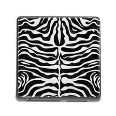 Skin2 Black Marble & White Linen (r) Memory Card Reader (square)