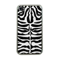 Skin2 Black Marble & White Linen (r) Apple Iphone 4 Case (clear)