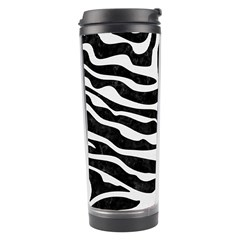 Skin2 Black Marble & White Linen (r) Travel Tumbler