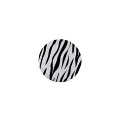 Skin3 Black Marble & White Linen 1  Mini Magnets
