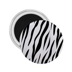 Skin3 Black Marble & White Linen 2 25  Magnets
