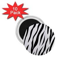 Skin3 Black Marble & White Linen 1 75  Magnets (10 Pack)