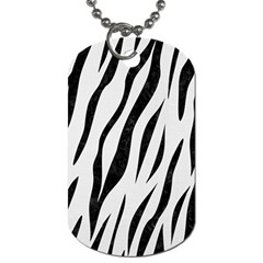 Skin3 Black Marble & White Linen Dog Tag (one Side)