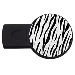 Skin3 Black Marble & White Linen Usb Flash Drive Round (4 Gb)