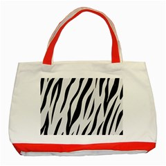 Skin3 Black Marble & White Linen Classic Tote Bag (red)