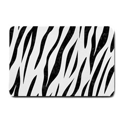Skin3 Black Marble & White Linen Small Doormat
