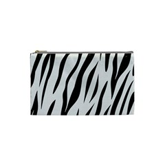 Skin3 Black Marble & White Linen Cosmetic Bag (small)