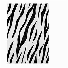 Skin3 Black Marble & White Linen Large Garden Flag (two Sides)