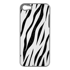Skin3 Black Marble & White Linen Apple Iphone 5 Case (silver)