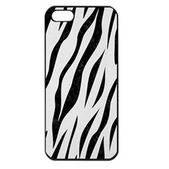 Skin3 Black Marble & White Linen Apple Iphone 5 Seamless Case (black)
