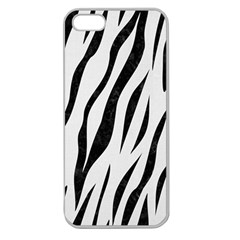 Skin3 Black Marble & White Linen Apple Seamless Iphone 5 Case (clear)