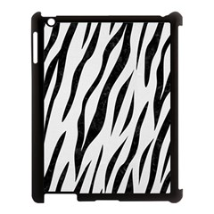 Skin3 Black Marble & White Linen Apple Ipad 3/4 Case (black)