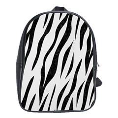 Skin3 Black Marble & White Linen School Bag (xl)