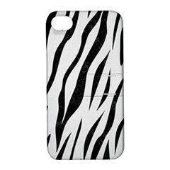 Skin3 Black Marble & White Linen Apple Iphone 4/4s Hardshell Case With Stand