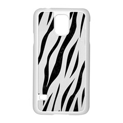 Skin3 Black Marble & White Linen Samsung Galaxy S5 Case (white)