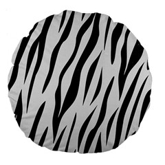 Skin3 Black Marble & White Linen Large 18  Premium Flano Round Cushions