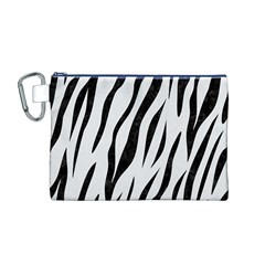 Skin3 Black Marble & White Linen Canvas Cosmetic Bag (m)